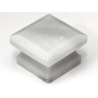 "White Square Cabinet Knob (1-5/8"") (S-3) by Cal Crystal"