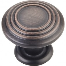 """Vienna Spiral Cabinet Knob (1-1/4"""") - Brushed Oil Rubbed Bronze (110DBAC) by Elements"""