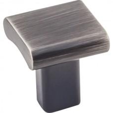 """Park Cabinet Knob (1"""") - Brushed Pewter (183BNBDL) by Elements"""