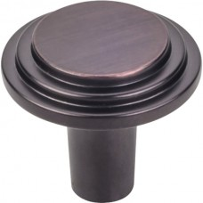 """Calloway Cabinet Knob (1-1/8"""") - Brushed Oil Rubbed Bronze (331DBAC) by Elements"""