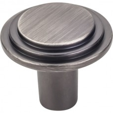 """Calloway Cabinet Knob (1-1/4"""") - Brushed Pewter (331L-BNBDL) by Elements"""
