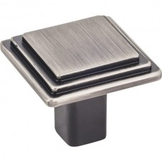 """Calloway Cabinet Knob (1-1/4"""") - Brushed Pewter (351L-BNBDL) by Elements"""
