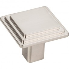 """Calloway Cabinet Knob (1-1/4"""") - Satin Nickel (351L-SN) by Elements"""