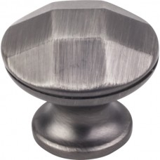"Drake Geometric Cabinet Knob (1-1/4"") - Brushed Pewter (423BNBDL) by Elements"