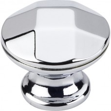 "Drake Geometric Cabinet Knob (1-1/4"") - Polished Chrome (423PC) by Elements"