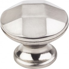 "Drake Geometric Cabinet Knob (1-1/4"") - Satin Nickel (423SN) by Elements"