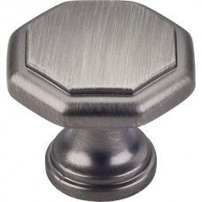 "Drake Geometric Cabinet Knob (1-3/16"") - Brushed Pewter (424BNBDL) by Elements"