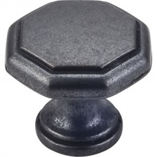 "Drake Geometric Cabinet Knob (1-3/16"") - Gun Metal (424DACM) by Elements"