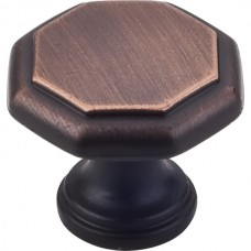 "Drake Geometric Cabinet Knob (1-3/16"") - Brushed Oil Rubbed Bronze (424DBAC) by Elements"