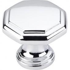 "Drake Geometric Cabinet Knob (1-3/16"") - Polished Chrome (424PC) by Elements"