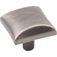 "Glendale Square Cabinet Knob (1"") - Brushed Pewter (525BNBDL) by Elements"