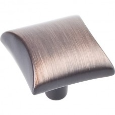 "Glendale Square Cabinet Knob (1"") - Brushed Oil Rubbed Bronze (525DBAC) by Elements"