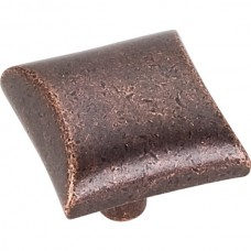 "Glendale Square Cabinet Knob (1"") - Distressed Oil Rubbed Bronze (525DMAC) by Elements"