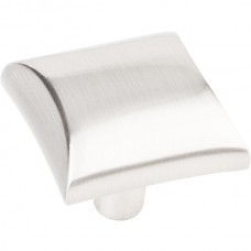 "Glendale Square Cabinet Knob (1"") - Satin Nickel (525SN) by Elements"