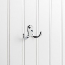 "Double Coat / Hat Hook (1-7/8"") - Polished Chrome (YD15-187PC) by Elements"