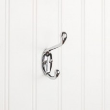 """Double Coat / Hat Hook (3-3/8"""") - Polished Chrome (YD40-337PC) by Elements"""