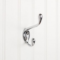 """Double Coat / Hat Hook (4-1/2"""") - Polished Chrome (YD40-450PC) by Elements"""