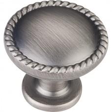 "Lindos Rope Cabinet Knob (1-1/4"") - Brushed Pewter (Z115BNBDL) by Elements"