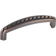 "Cypress Rope Detail Drawer Pull (3"" CTC) - Brushed Oil Rubbed Bronze (Z118-3DBAC) by Elements"