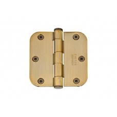 "3-1/2"" Residential Plated Steel Hinges w/ 5/8"" Radius Corners (91033) by Emtek"