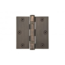 "3-1/2"" Ball Bearing Solid Brass Hinges w/ Square Corners (96413) by Emtek"