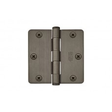 "3-1/2"" Heavy Duty Solid Brass Hinges w/ 1/4"" Radius Corners (96223) by Emtek"