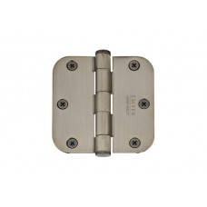 "3-1/2"" Heavy Duty Solid Brass Hinges w/ 5/8"" Radius Corners (96233) by Emtek"
