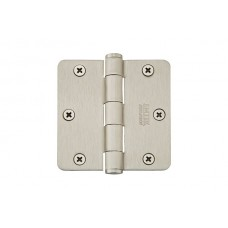 "3-1/2"" Residential Solid Brass Hinges w/ 1/4"" Radius Corners (96123) by Emtek"