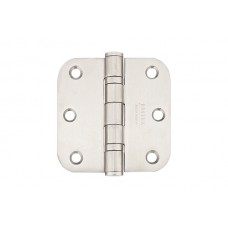 "3-1/2"" Ball Bearing Stainless Steel Hinges w/ 5/8"" Radius Corners (98433) by Emtek"