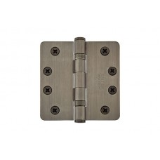 "4"" Ball Bearing Plated Steel Hinges w/ 1/4"" Radius Corners (94024) by Emtek"