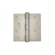 "4"" Residential Plated Steel Hinges w/ 1/4"" Radius Corners (91024) by Emtek"