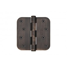 "4"" Residential Plated Steel Hinges w/ 5/8"" Radius Corners (91034) by Emtek"
