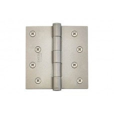 "4"" Residential Plated Steel Hinges w/ Square Corners (91014) by Emtek"