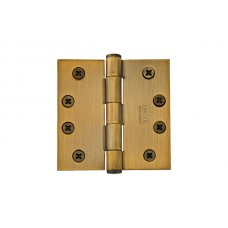 "4"" Heavy Duty Solid Brass Hinges w/ Square Corners (96214) by Emtek"