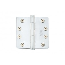 "4"" Residential Solid Brass Hinges w/ 1/4"" Radius Corners (96124) by Emtek"