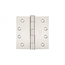 "4"" Residential Stainless Steel Hinges w/ Square Corners (98114) by Emtek"