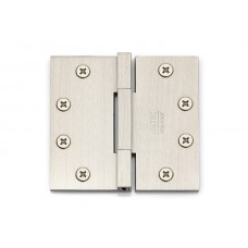"""4-1/2"""" Heavy Duty Square Barrel Solid Brass Hinges w/ Square Corners (96515) by Emtek"""