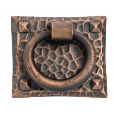 Hammered Ring Drop Pull (1-3/4 x 1-1/2) - Oil Rubbed Bronze (86040) by Emtek