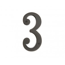 "4"" Brass #3 House Number (2813) by Emtek"