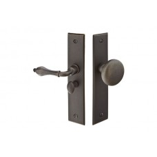 Sandcast Bronze Rectangular Screen Door Lock Set (2291) by Emtek