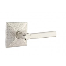 Arts & Crafts Lever Door Set w/ Hammered Rosette (5106) by Emtek