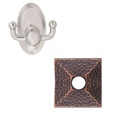 Arts & Crafts Double Robe Hook w/Hammered Rosette (2609) by Emtek