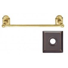 "Traditional Brass 12"" Towel Bar w/Quincy Rosette (26024) by Emtek"