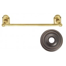 "Traditional Brass 12"" Towel Bar w/Regular Rosette (26024) by Emtek"