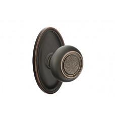 Belmont Knob Door Set w/ Oval Rosette (8120) by Emtek