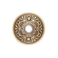 Brass Lancaster Door Bell Button (2406) by Emtek