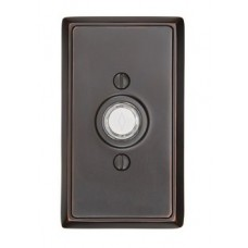 Brass Rectangular Door Bell Button (2403) by Emtek