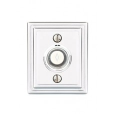 Brass Wilshire Door Bell Button (2404) by Emtek