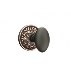 Egg Knob Door Set w/ Lancaster Rosette (8106) by Emtek
