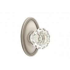 Astoria Crystal Knob Door Set w/ Oval Rosette (8120) by Emtek